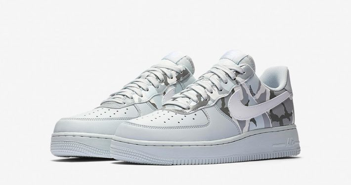 Nike Air Force 1 Low Pure Platinum Wolf Grey Camo 823511-009