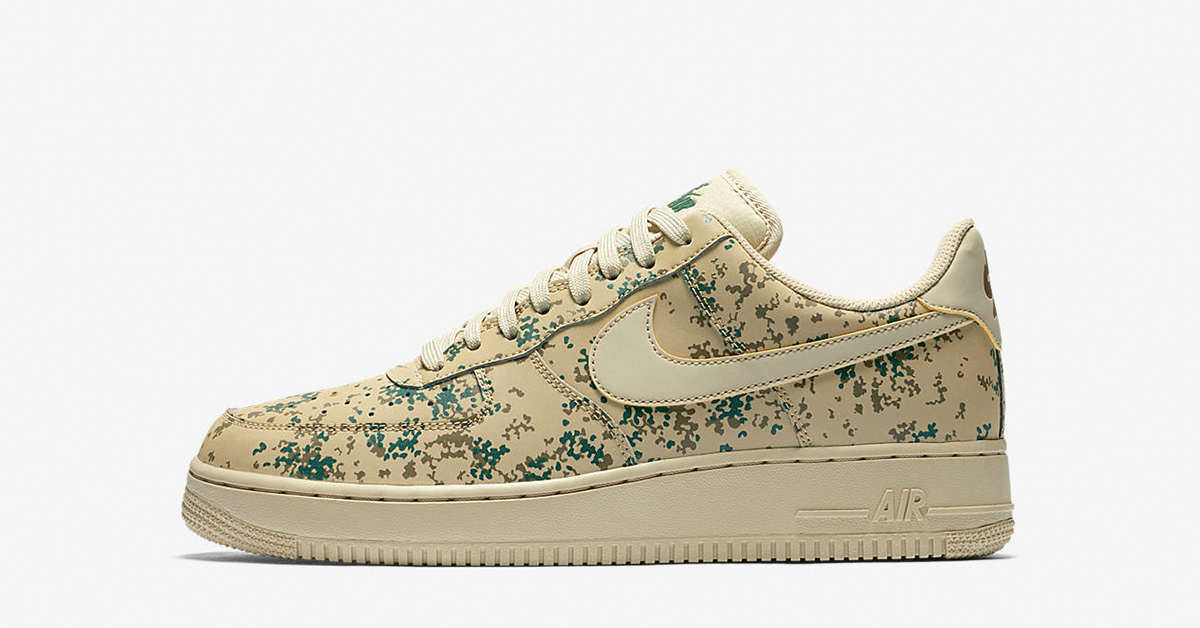 Nike Air Force 1 Low Team Gold Gorge Green Camo 823511-700