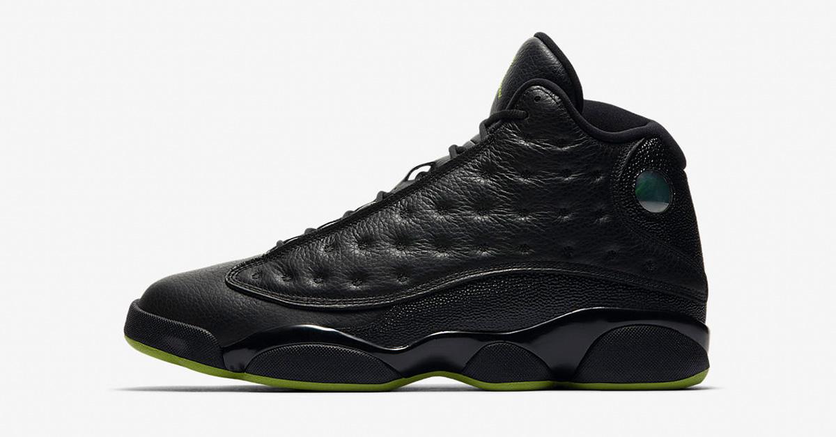 Nike Air Jordan 13 Retro Black Altitude Green 414571-042