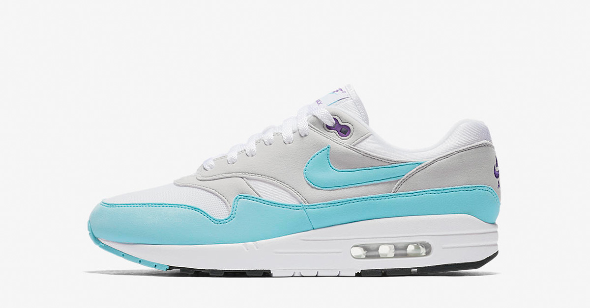 Nike Air Max 1 Anniversary White Aqua 908375-105