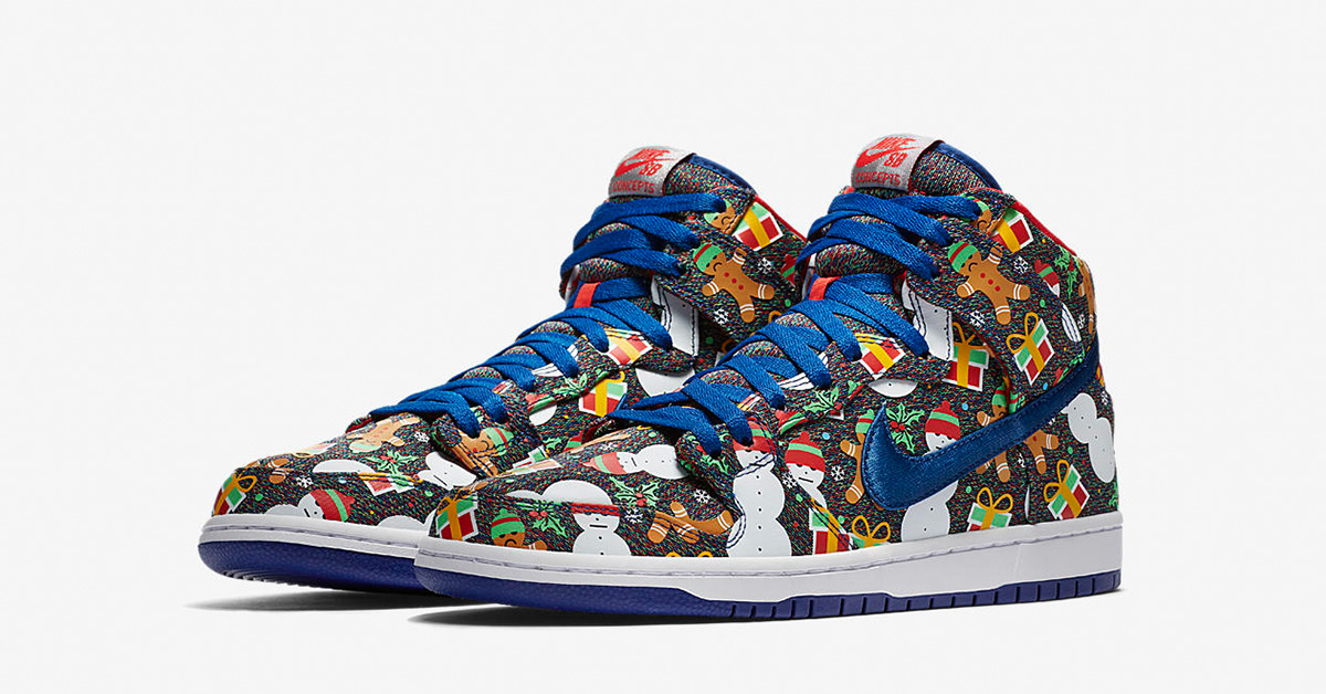 Nike SB Dunk High Pro Ugly Christmas Sweater
