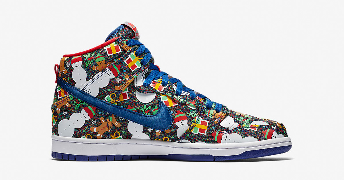Nike SB Dunk High Pro Ugly Christmas Sweater 881758-446