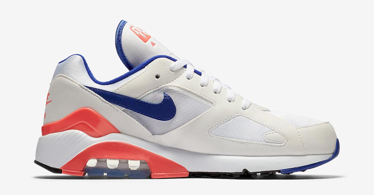 Nike Air Max 180 White Ultramarine Solar Red 615287-100