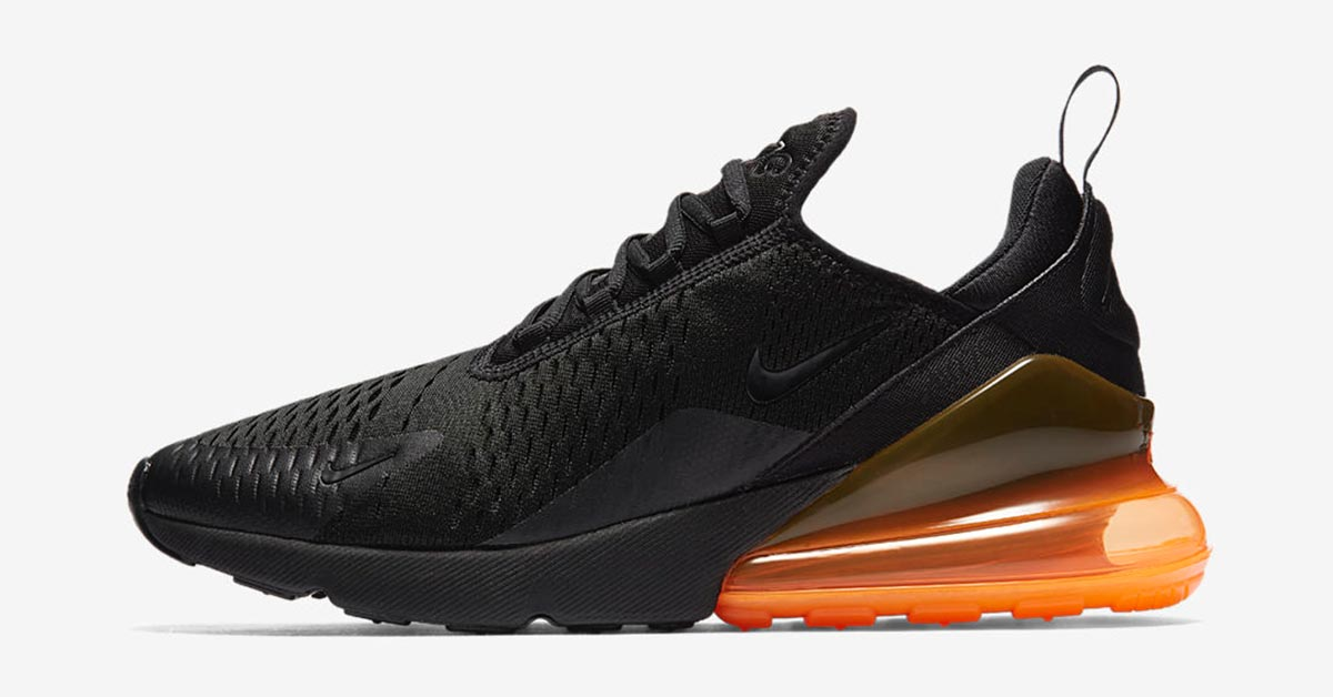 Nike Air Max 270 Black Tonal Orange AH8050-008