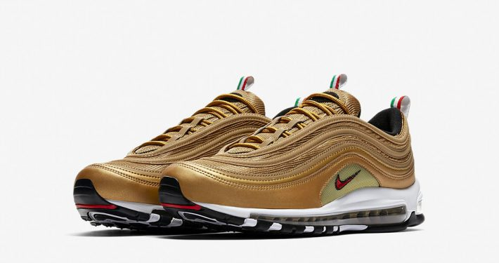 Nike Air Max 97 Italy Metallic Gold Varsity Red AJ8056-700