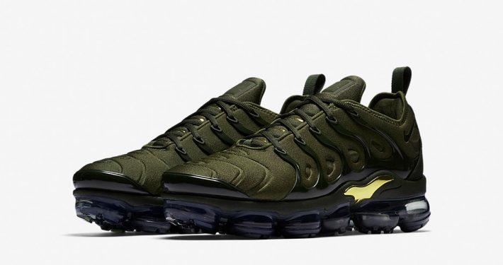 Nike Air VaporMax Plus Cargo Khaki Metallic Gold 924453-300