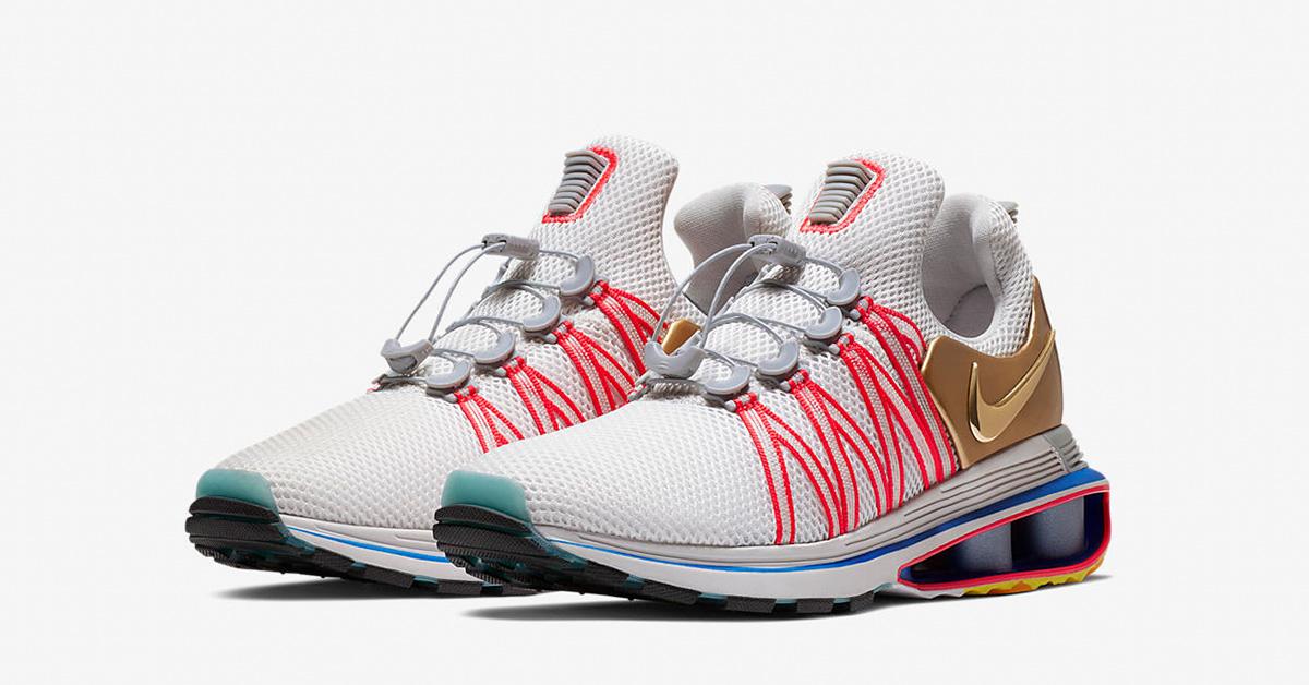 Nike Shox Gravity Metallic Gold Vast Grey AQ8553-009
