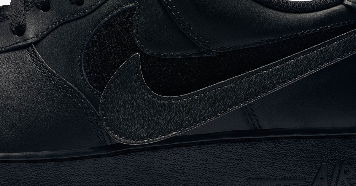 Nike Air Force 1 Black Swoosh Flavors AH8462-002