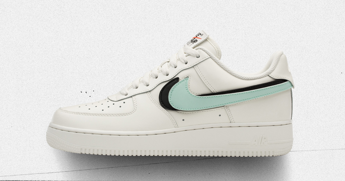 Nike Air Force 1 with customisable Swoosh