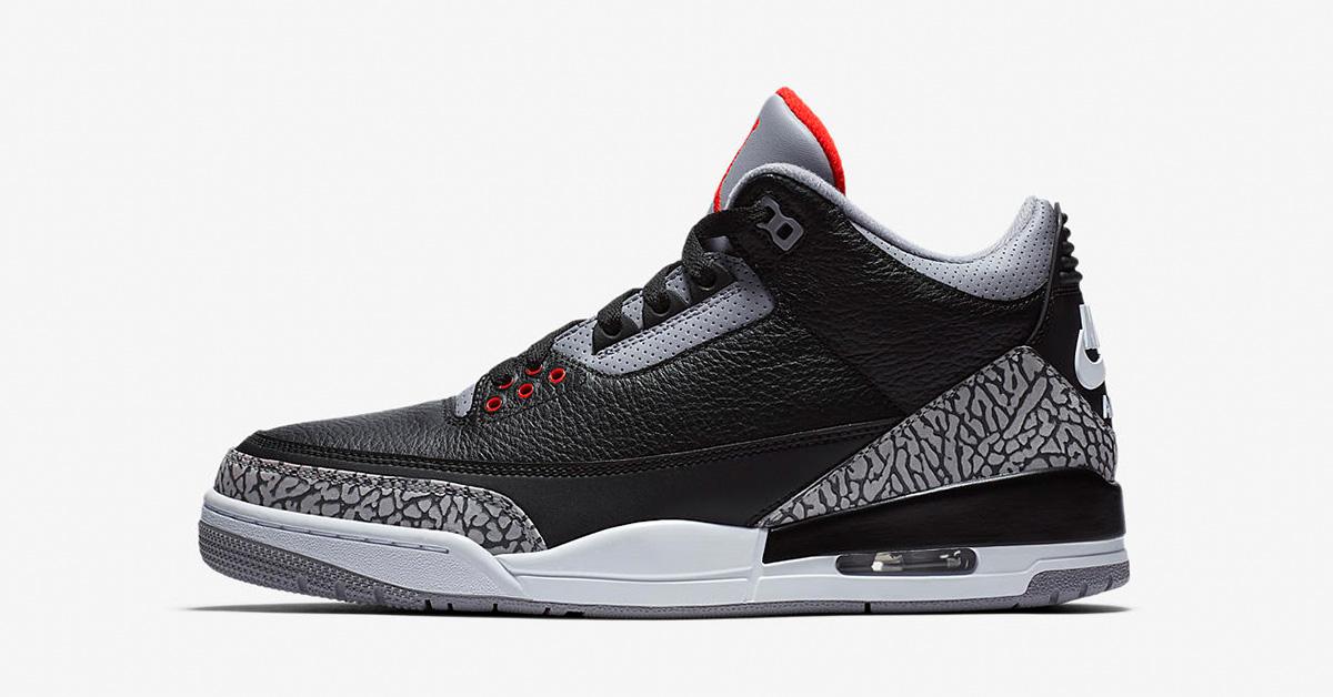 Nike Air Jordan 3 Retro Black Cement 854262-001