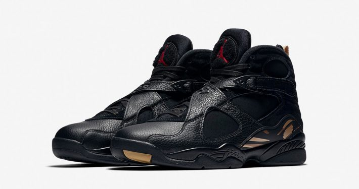 Nike Air Jordan 8 Retro OVO Black Metallic Gold AA1239-045