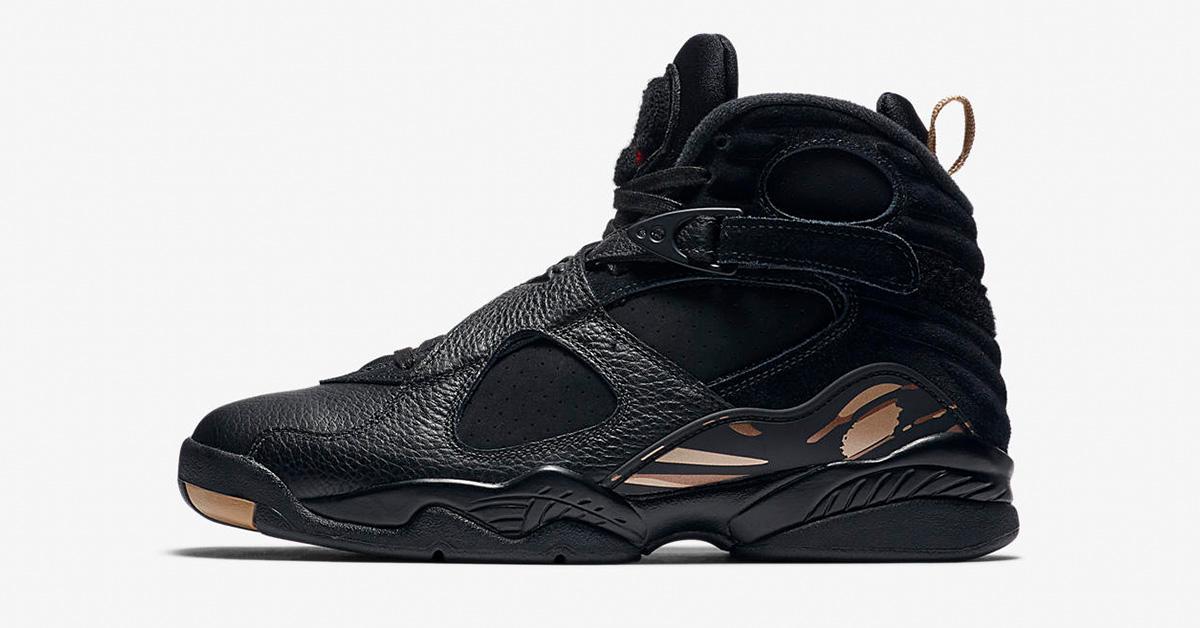 Nike Air Jordan 8 Retro OVO Black Metallic Gold AA1239-045