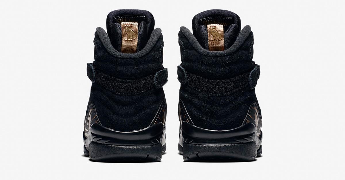 watch 45e33 fd474 Nike Air Jordan 8 Retro OVO Black Metallic Gold - Next Level ...