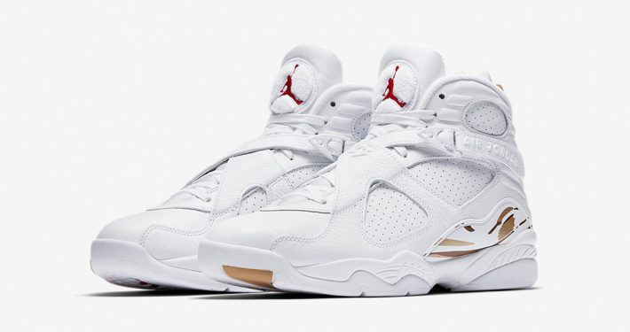 Nike Air Jordan 8 Retro OVO White Metallic Gold AA1239-135