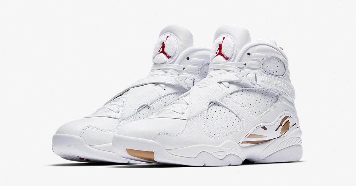 Nike Air Jordan 8 Retro OVO White Metallic Gold