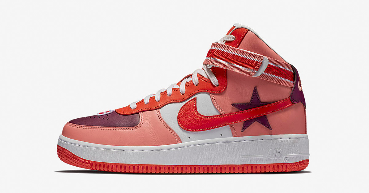 RT x Nike Air Force 1 High Sunblush Bordeaux AQ3366-601