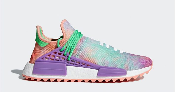 Pharrell Williams x Adidas NMD Hu Trial Holi Chalk Coral AC7034