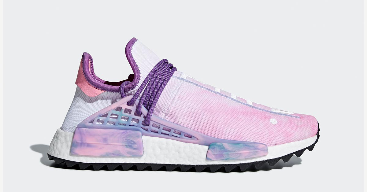 661571a16d4 Pharrell Williams x Adidas NMD Hu Trail Holi Pink Glow - Next Level ...