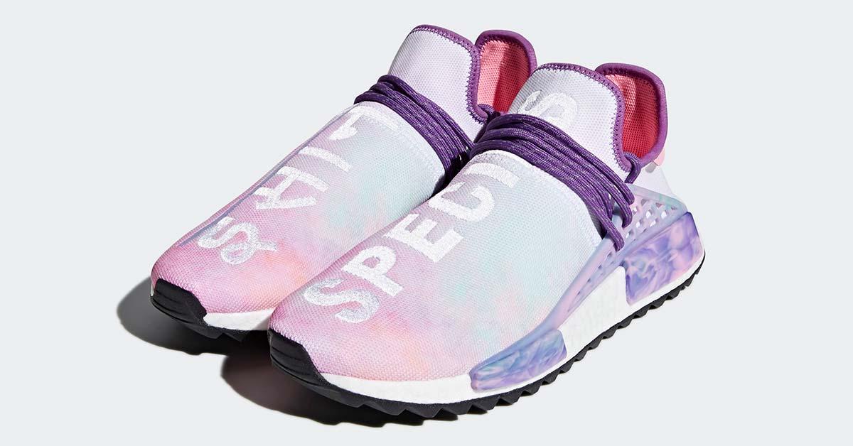 Pharrell Williams x Adidas NMD Hu Trial Holi Pink Glow AC7362