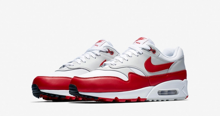 Nike Air Max 90/1 White University Red AJ7695-100