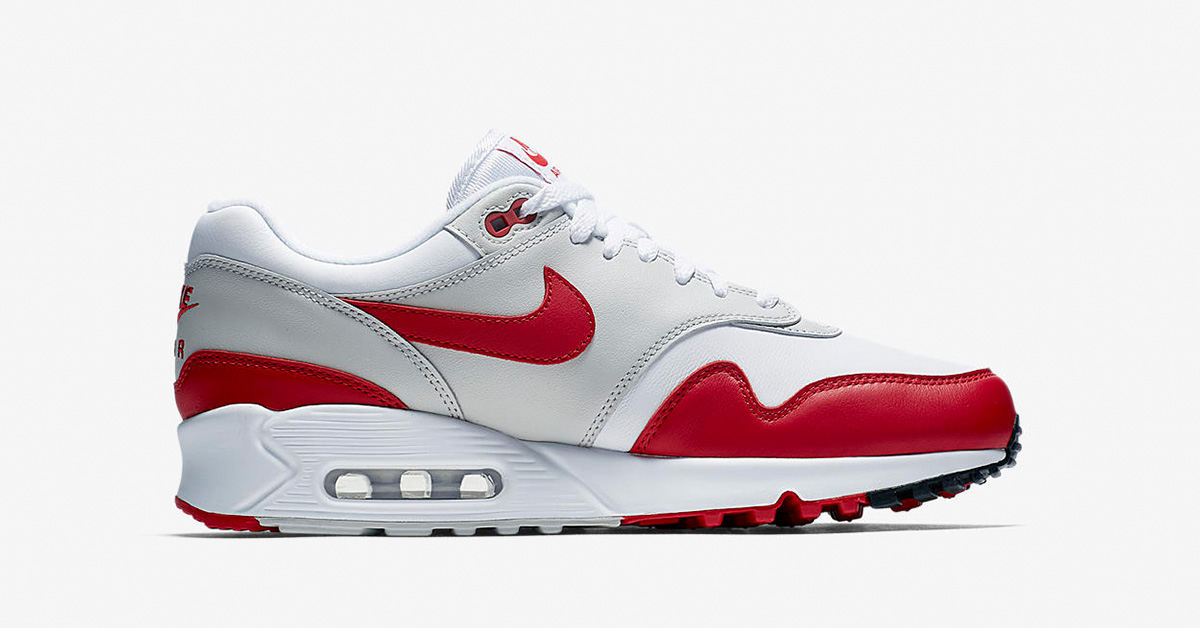 Nike Air Max 90/1 White University Red AJ7695-100