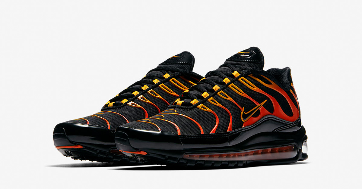 Nike Air Max 97 Plus Shock Orange Black