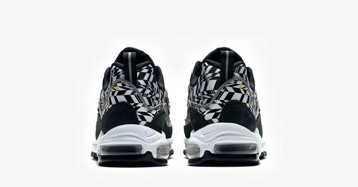 the best attitude cfdaa f81a1 Nike Air Max 98 Black White AOP - Next Level Kickz