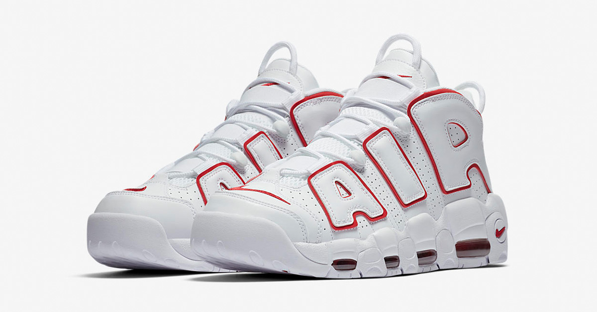 first rate 5fcd2 059d0 Nike Air More Uptempo White Varsity Red - Next Level Kickz
