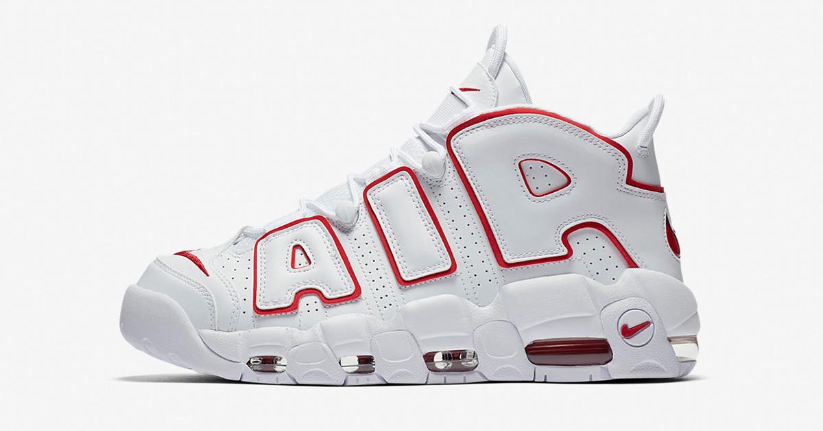 Nike Air More Uptempo White Varsity Red 921948-102