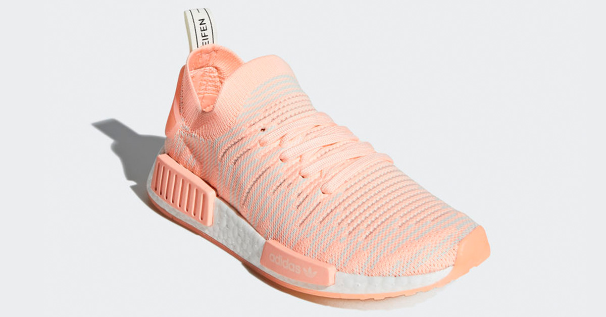 Womens Adidas NMD R1 Stlt Primeknit Clear Orange AQ1119