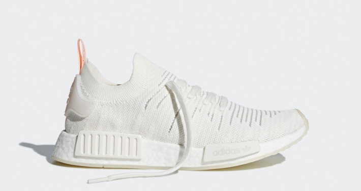 Womens Adidas NMD R1 Stlt Primeknit White Clear Orange B37655
