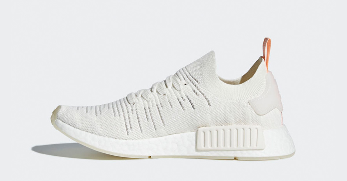 Womens Adidas Nmd R1 Stlt Primeknit White Clear Orange Next