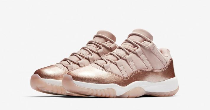Womens Nike Air Jordan 11 Rose Gold AH7860-105