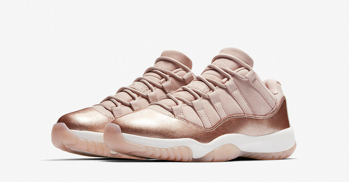 Womens Nike Air Jordan 11 Rose Gold AH7860-105⁠