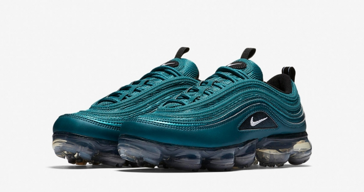 Womens Nike Air Vapormax 97 Metallic Dark Sea Black AO4542-901