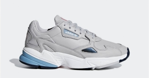 Womens Adidas Falcon Grey Blue B37840