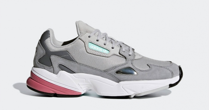 Womens Adidas Falcon Grey Maroon D96698