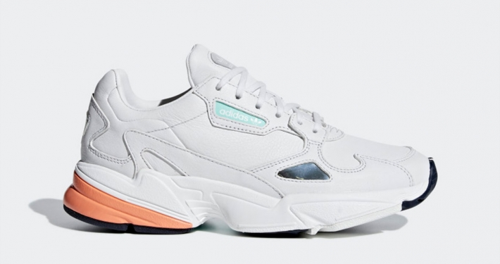 Womens Adidas Falcon White Orange B37845