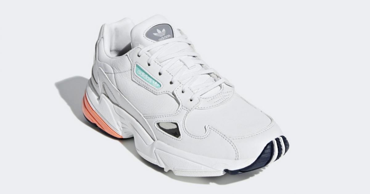 Womens Adidas Falcon White Orange B37845