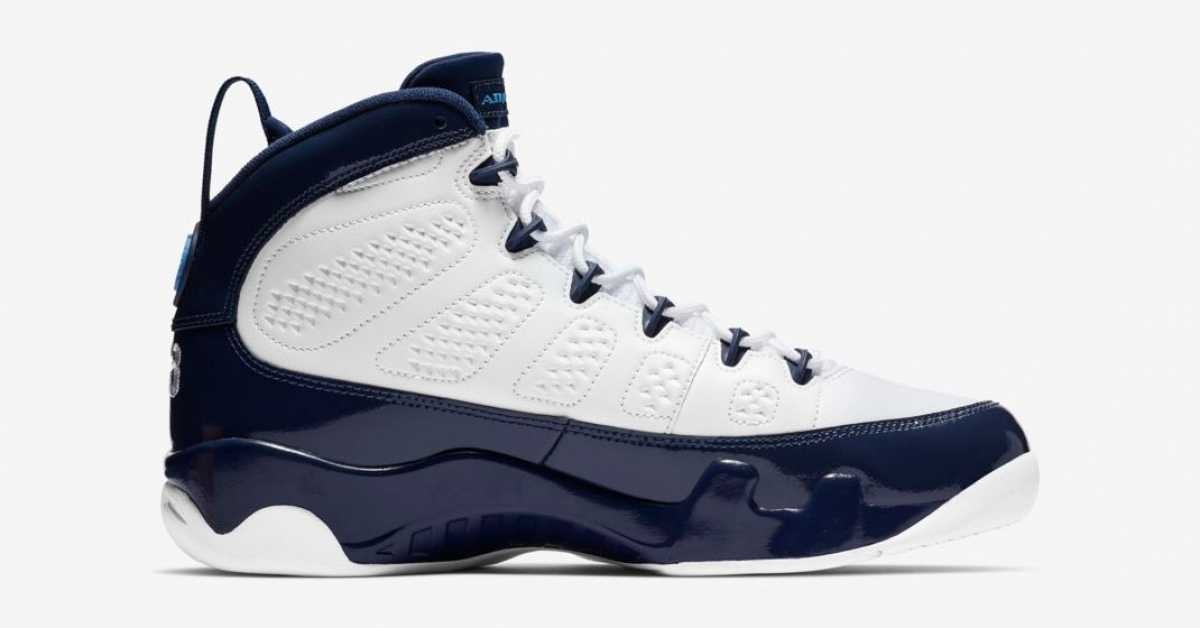 Nike Air Jordan 9 White Midnight Navy 302370-145